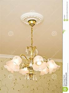 Classic design of chandelier stock image