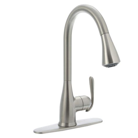 moen haysfield kitchen faucet upc 026508225363 moen 87877srs spot resist stainless haysfield pullout spray high arc