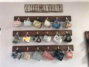 Pottery barn mug holder sofa cope for Kitchen cabinet trends 2018 combined with potterybarn wall art