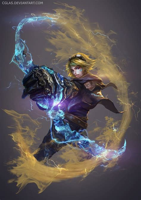 ezreal league  legends fan art art  lol