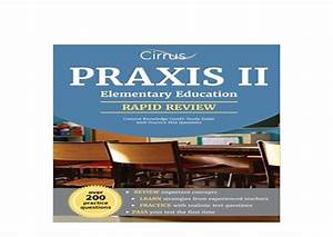 Praxis 2 Elementary Education Content Knowledge 5018