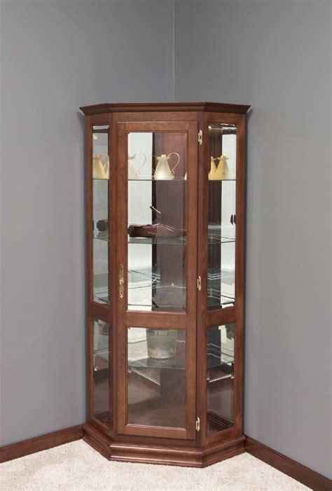 Furniture Willmott Curio Cabinet by Amish Corner Curio Cabinets Bar Cabinet