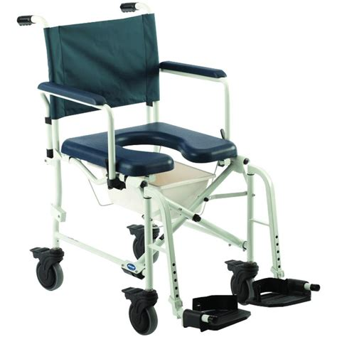 invacare mariner rehab shower commode chair with 18 inches