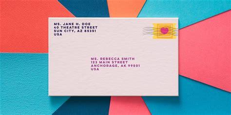address  envelope
