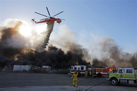 fire rips  vehicle yard south  napa airport