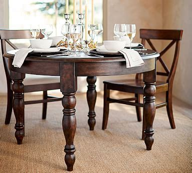 pottery barn kirkwood dining table evelyn extending round dining table pottery barn