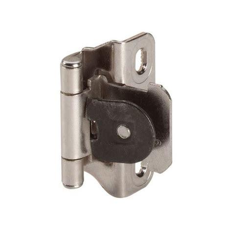 amerock cabinet hinge parts amerock single demountable 1 4 quot overlay hinge nickel pair
