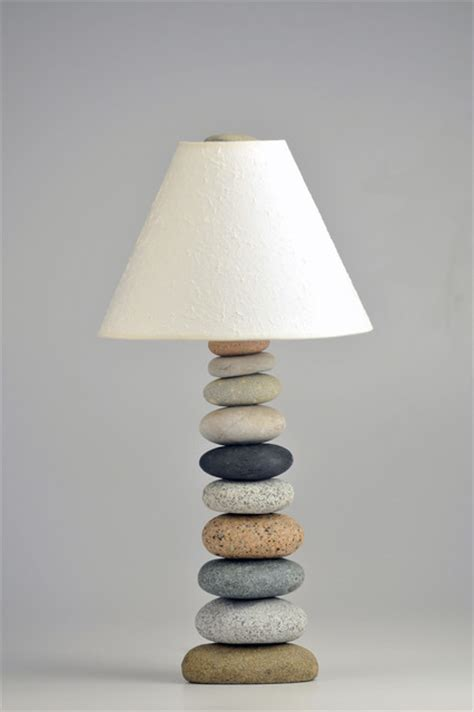 cairn rock lamp beach style table lamps  funky