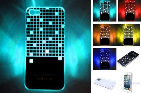 iphone led flash minigaga led sense flash lighting cover skin for