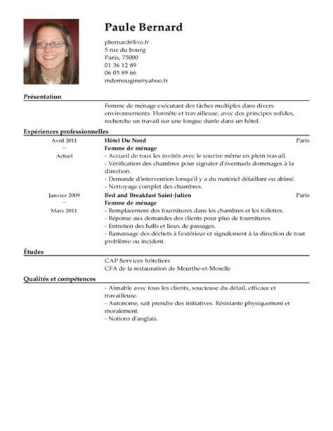 Photography Hobby Resume by Cv Femme De M 233 Nage Exemple Cv Femme De M 233 Nage Livecareer
