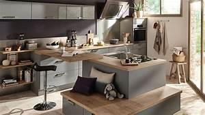 Idee Deco Cuisine Ouverte : deco cuisine ouverte salon cuisine en image l gant idee deco salon cuisine garden ~ Preciouscoupons.com Idées de Décoration