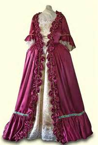Clothing 1700 Colonial Gown Dress