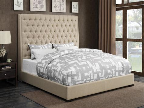 camille contemporary cream fabric button tufted