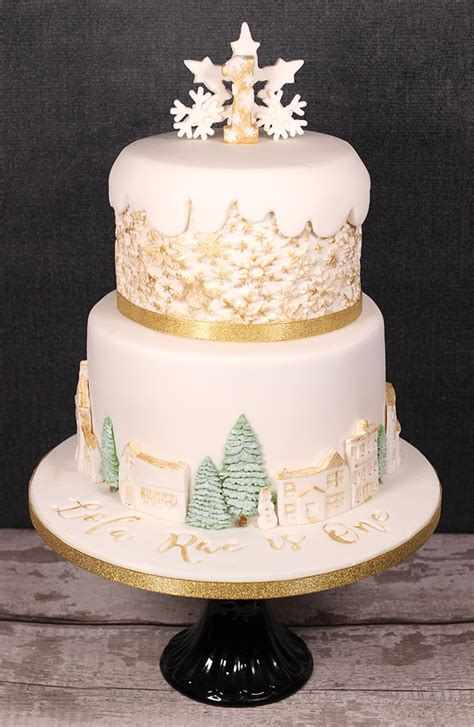 winter wonderland st birthday cake cakey goodness