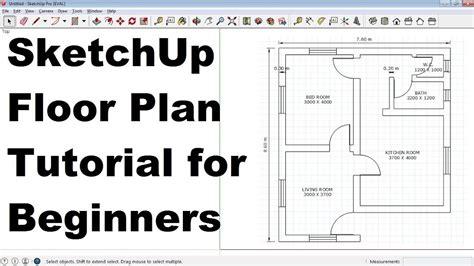 SketchUp Floor Plan Tutorial for Beginners YouTube