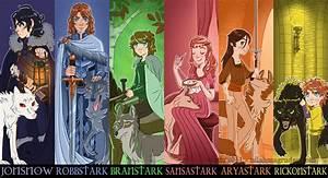 The Stark Children by nilaffle on DeviantArt
