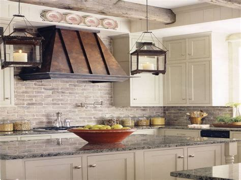 Boho chic home decor, farmhouse kitchen brick backsplash
