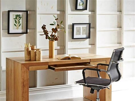 Small Wooden Computer Desk Real Wood Home Office