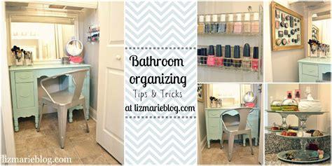 bathroom organization ideas master bathroom organizing ideas liz