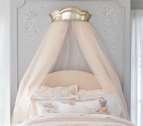 monique lhuillier gold cornice canopy pottery barn kids