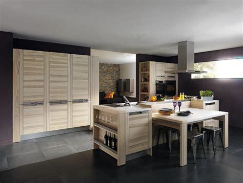 cuisine bois design meubles contemporains bois cuisine ouverte attitude