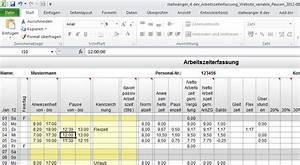 Excel Arbeitszeit Berechnen Minusstunden : excel arbeitszeiterfassung mit variabler pausenzeit stallwanger it ~ Themetempest.com Abrechnung