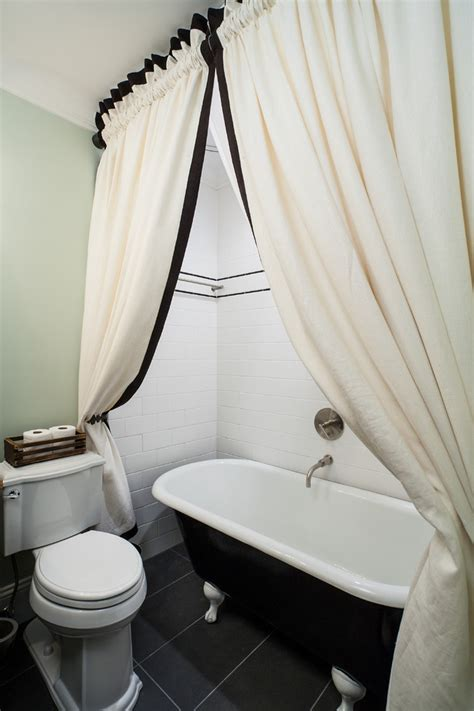 bathroom curtain ideas for shower staggering clawfoot tub shower curtain ideas decorating