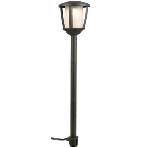 integrated led outdoor lighting hton bay low voltage black outdoor integrated led path