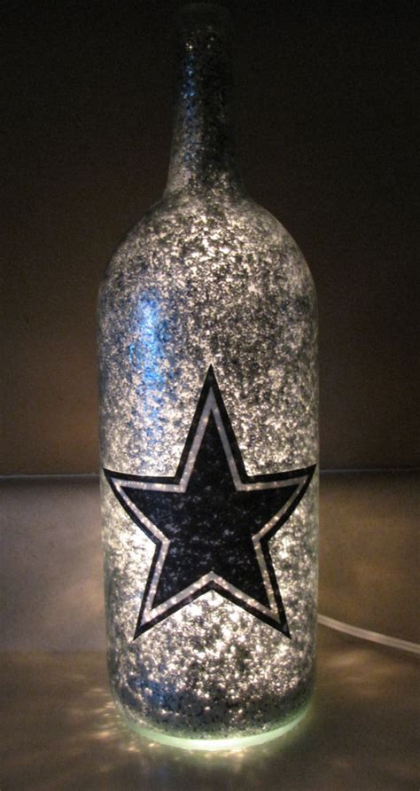 Decorative Wine Bottles With Lights by Football Team Decorative Lighted Wine Bottle By