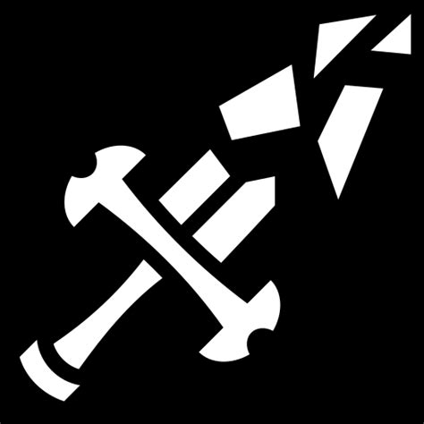 shattered sword icon game iconsnet