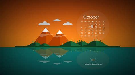 october  calendar desktop wallpaper calendar