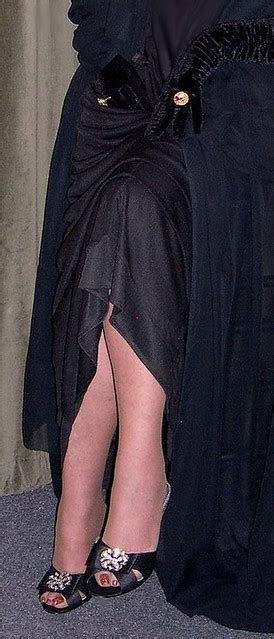 Black Legs Evening Gown This Is Close Up Of Shoes And