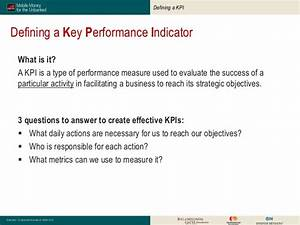 Define Confidential Kpis In Mobile Money A Reference Guide