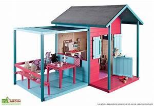 Maison Pour Enfant En Bois : maison pour enfant bois avec terrasse kook jardipolys ~ Premium-room.com Idées de Décoration