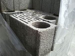 muret en facade maison contemporaine en vtherm r1 With maison en pierre ponce 11 la maison mickael60 page 17