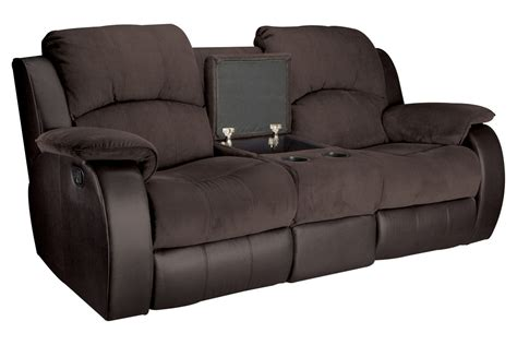 Microfiber Loveseat by Lorenzo Microfiber Reclining Loveseat With Console