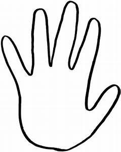 Hand Outline Printable - Cliparts.co