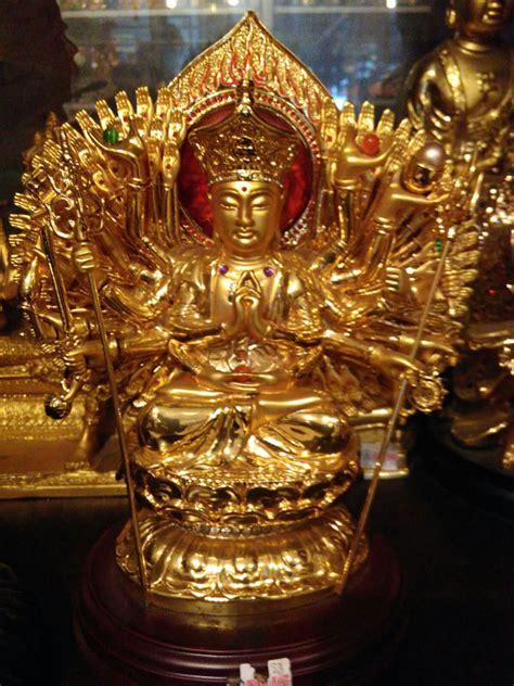 jual patung budha seribu tangan kuningan dhammamanggala