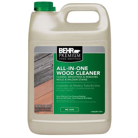behr deck cleaner 64 behr premium 1 gal all in one wood cleaner 06301n the
