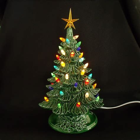 ceramic christmas tree l vintage style ceramic christmas tree 11 inches by