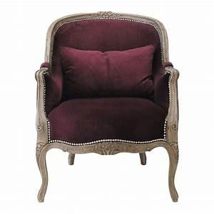 Fauteuil Crapaud Maison Du Monde : fauteuil en velours prune montpensier maisons du monde ~ Melissatoandfro.com Idées de Décoration