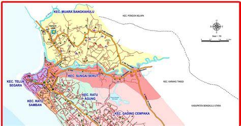 peta kota peta kota bengkulu