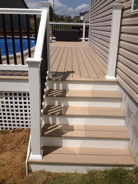 Stairs and Rope Swing Stairs with with Cellular Pvc Risers