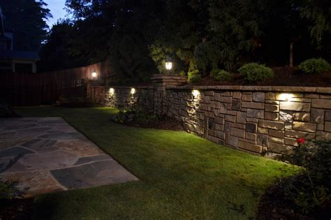 retaining wall lights outdoor new lighting ideas for