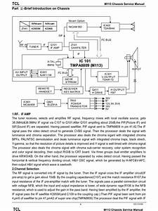 16024880 Color Tv China Circuit Diagram Tcl Chassis M113