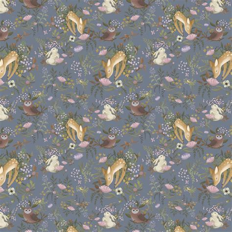 Animal Removable Wallpaper - anewall oh deer modern classic animals removable