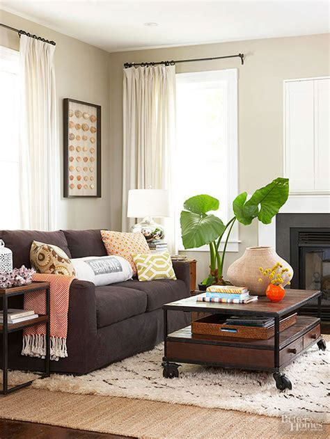 big rugs for cheap ways to decorate with a brown sofa better homes gardens