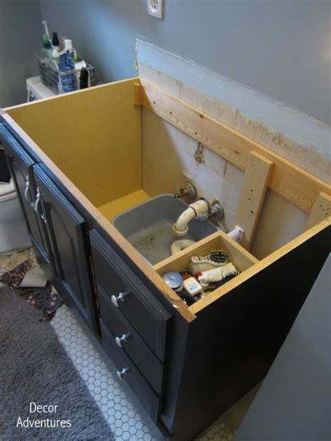 how to remove a countertop from a vanity bathroom