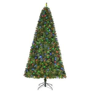 reviews home accent welsley spruce christmas tree home accents 9 ft pre lit led wesley spruce artificial tree with 650 color