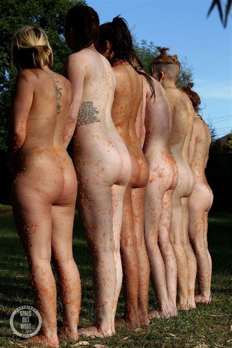 Group Of Fun Loving Cute Nude Chicks Playin Xxx Dessert